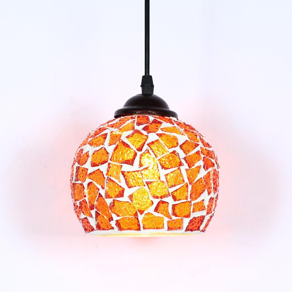 Mosaic-Style-Hanging-Light-Ceiling-Pendant-Lamp-Retro-Lampshade-Cafe-Restaurant thumbnail 84