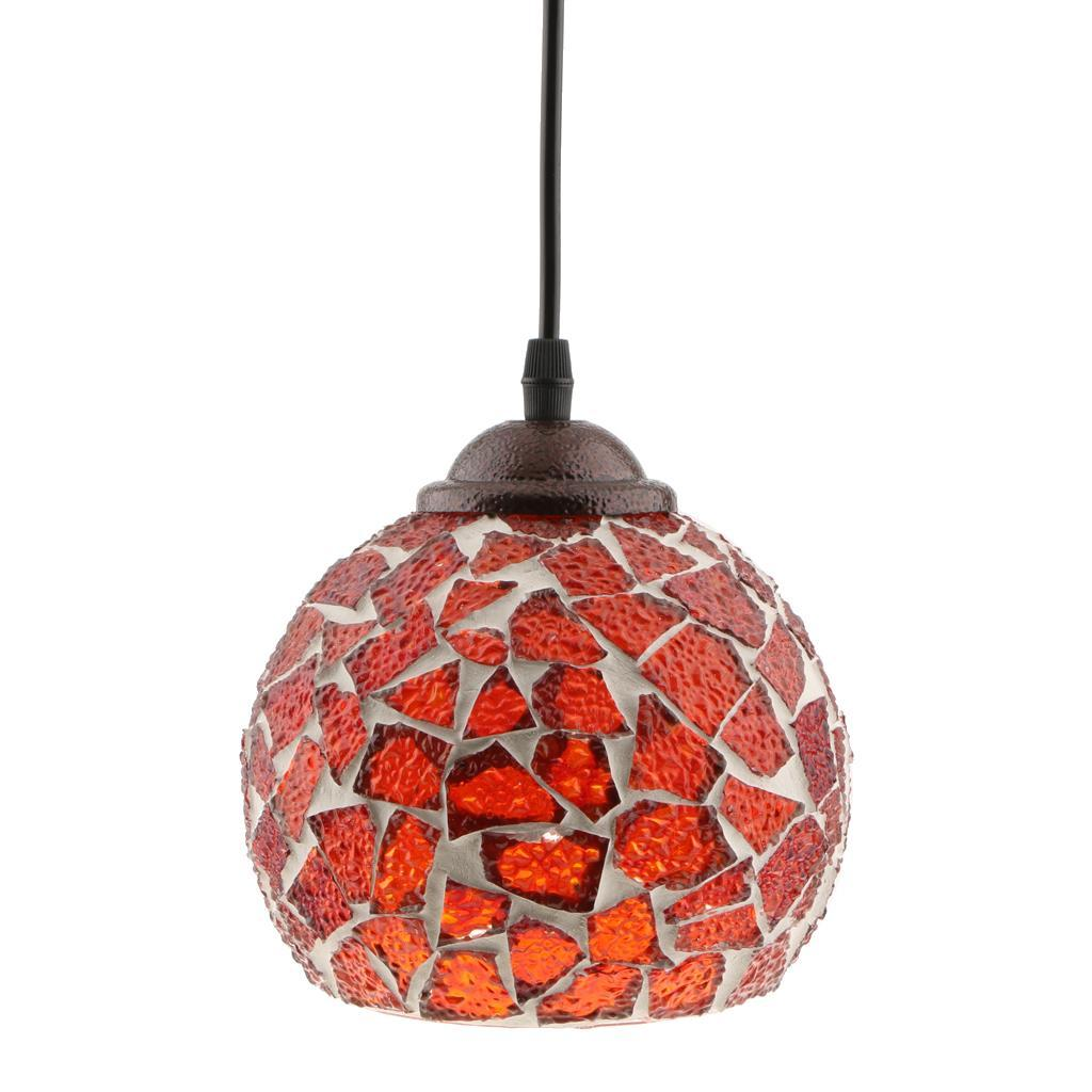 Mosaic-Style-Hanging-Light-Ceiling-Pendant-Lamp-Retro-Lampshade-Cafe-Restaurant thumbnail 85