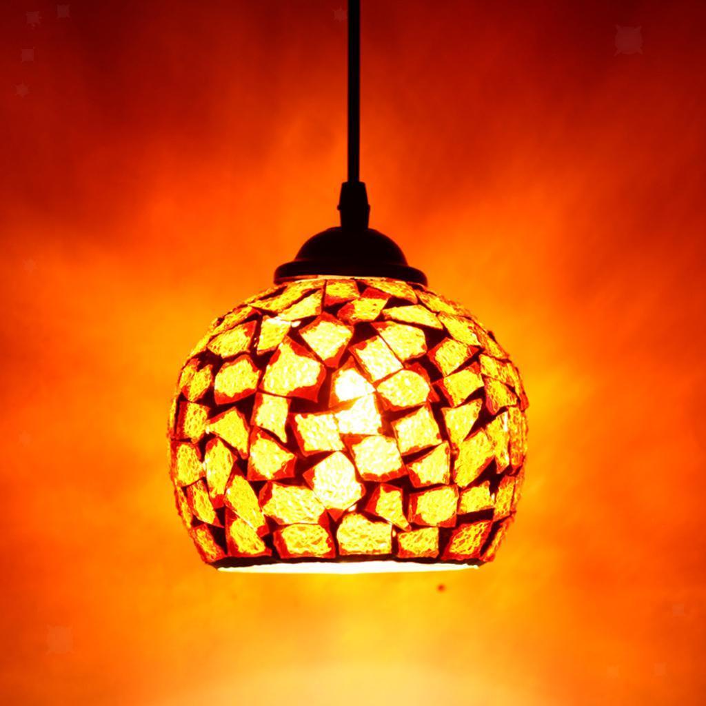 Mosaic-Style-Hanging-Light-Ceiling-Pendant-Lamp-Retro-Lampshade-Cafe-Restaurant thumbnail 83