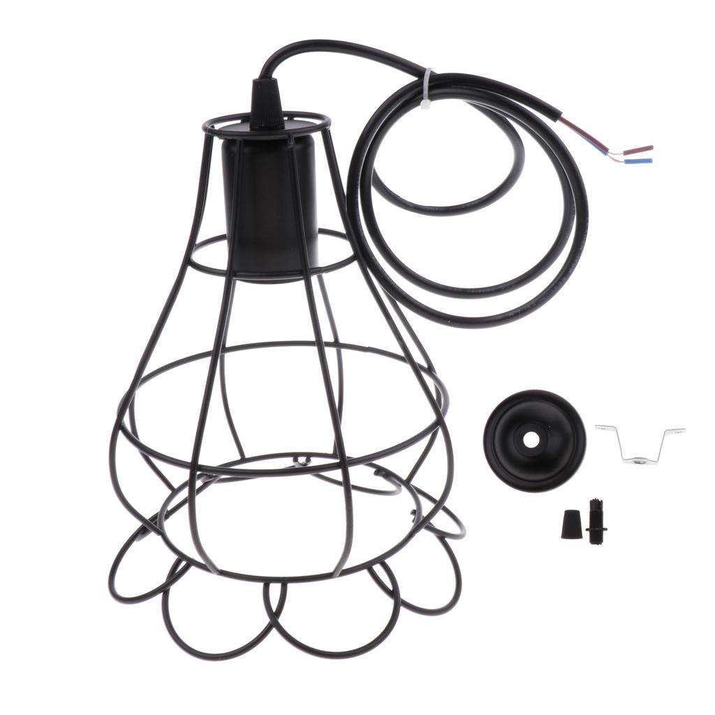 E27-Metal-Lampshade-Ceiling-Vintage-Retro-Chandelier-Fitting-LED-Pendant-Light thumbnail 26