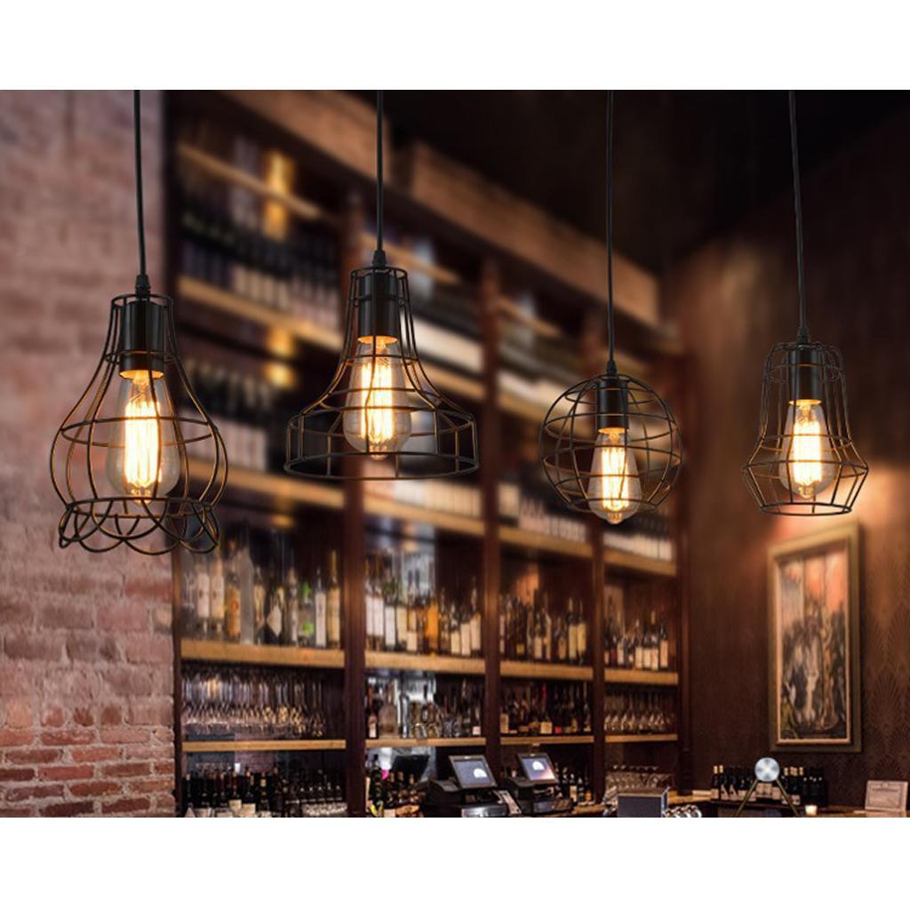 E27-Metal-Lampshade-Ceiling-Vintage-Retro-Chandelier-Fitting-LED-Pendant-Light thumbnail 23