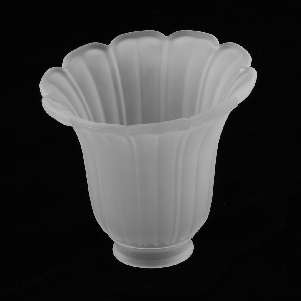 Tulip-Bell-Shape-Vintage-Frosted-amp-Clear-Glass-Lamp-Shade thumbnail 21