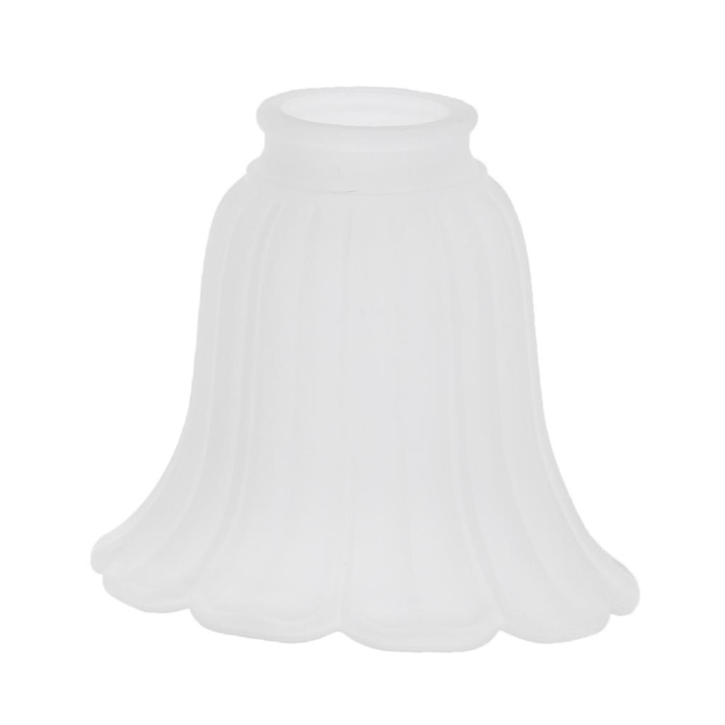 Tulip-Bell-Shape-Vintage-Frosted-amp-Clear-Glass-Lamp-Shade thumbnail 19