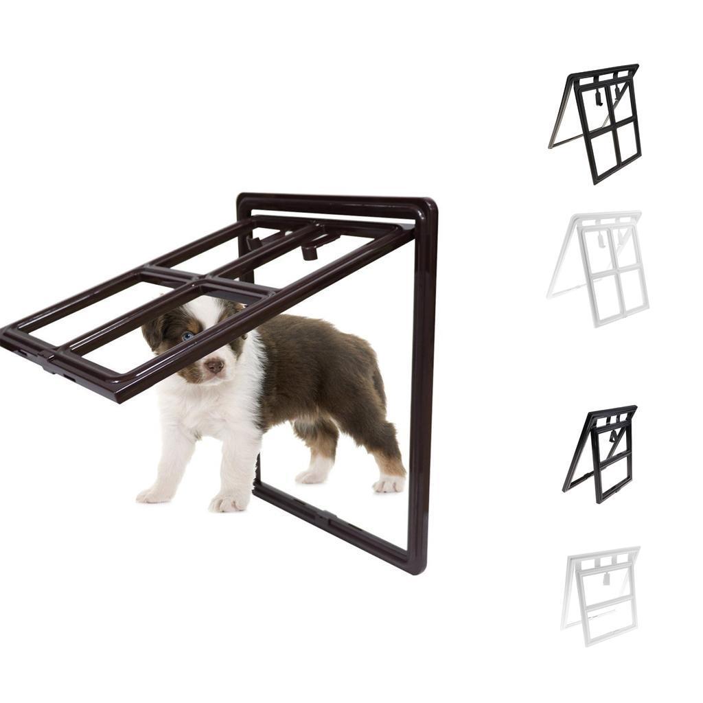 Magnetic Automatic Locklockable Pet Screen Door Dog Gate Way Door