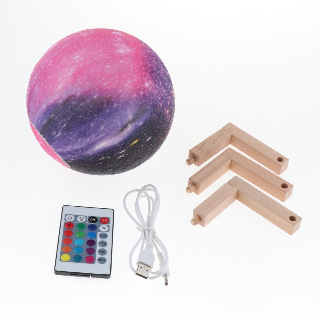3D-Lampada-LED-Luce-Notturna-Lunare-Accessorio-Decorativo-Domestica miniatura 6
