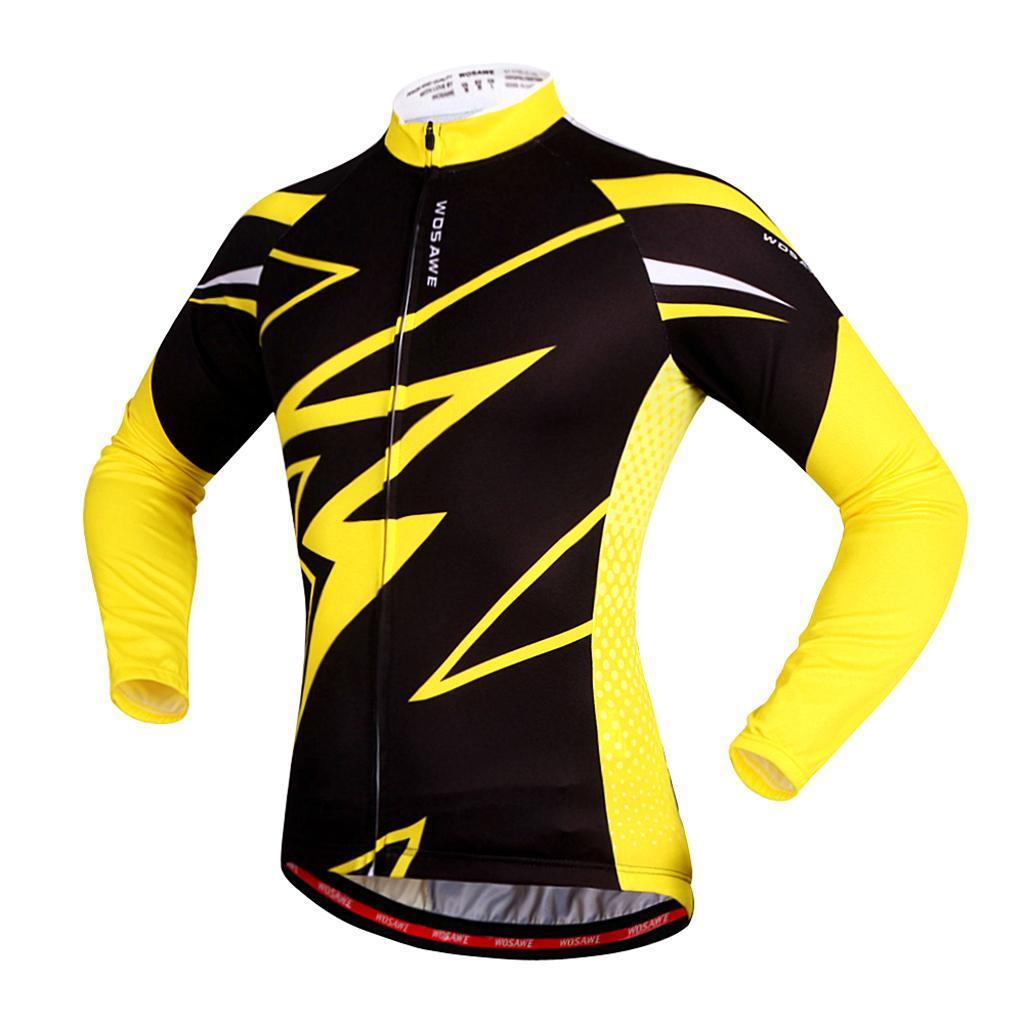 Jersey-Maillot-de-Cyclisme-Velo-Enfant-Garcon-Fille-Manche-Longue-Respirant miniature 8
