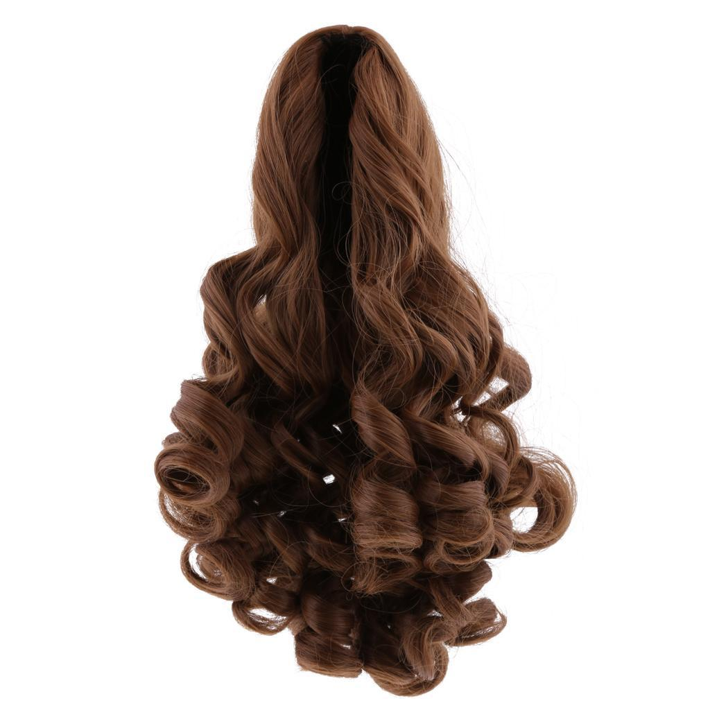 MagiDeal-Wavy-Curly-Hair-Wig-for-18inch-American-Doll-Doll-DIY-Making-Accessory thumbnail 16
