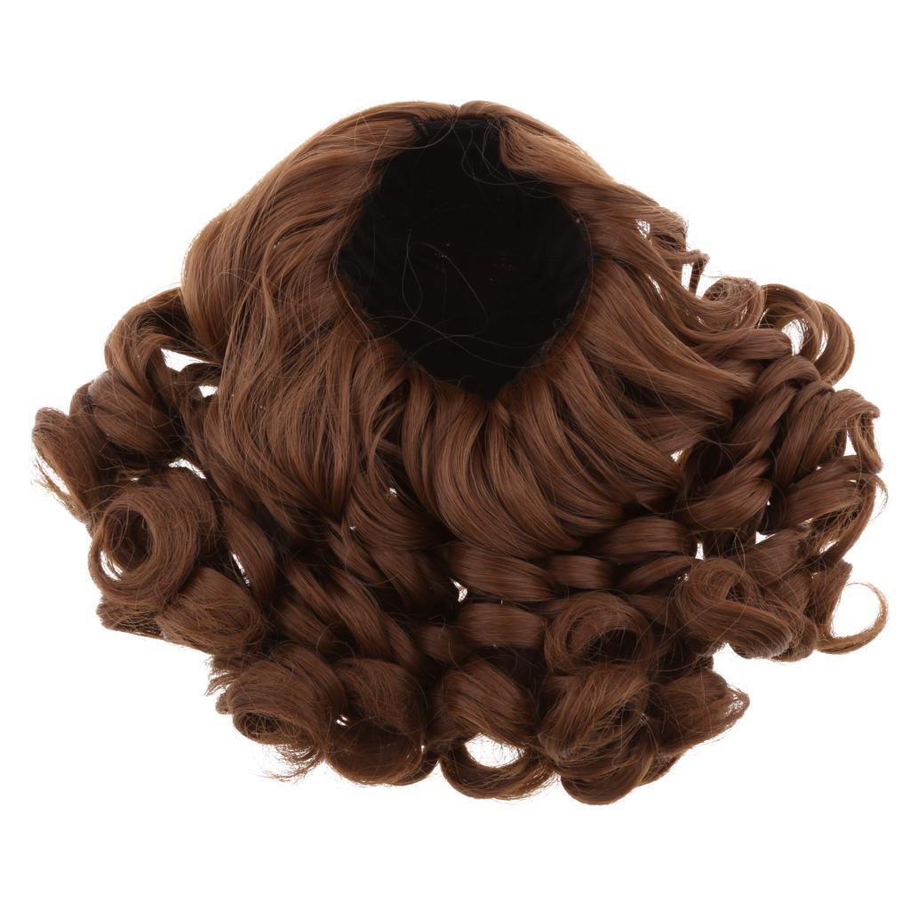 MagiDeal-Wavy-Curly-Hair-Wig-for-18inch-American-Doll-Doll-DIY-Making-Accessory thumbnail 15
