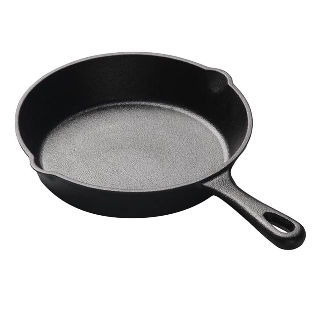Non Stick Griddle Skillet Frying Pan Bbq Picnic Cast Iron