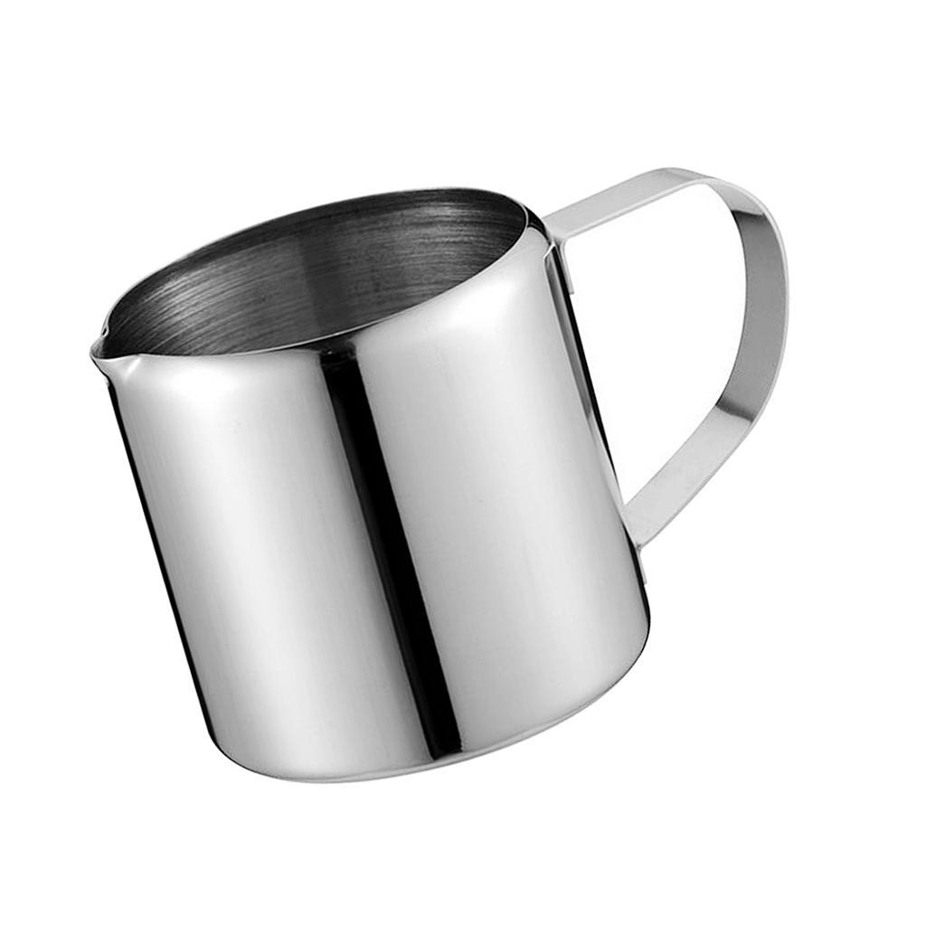 2 Sizes Stainless Steel Coffee Frothing Milk Latte Jug Coffee Foam Cup Pitcher