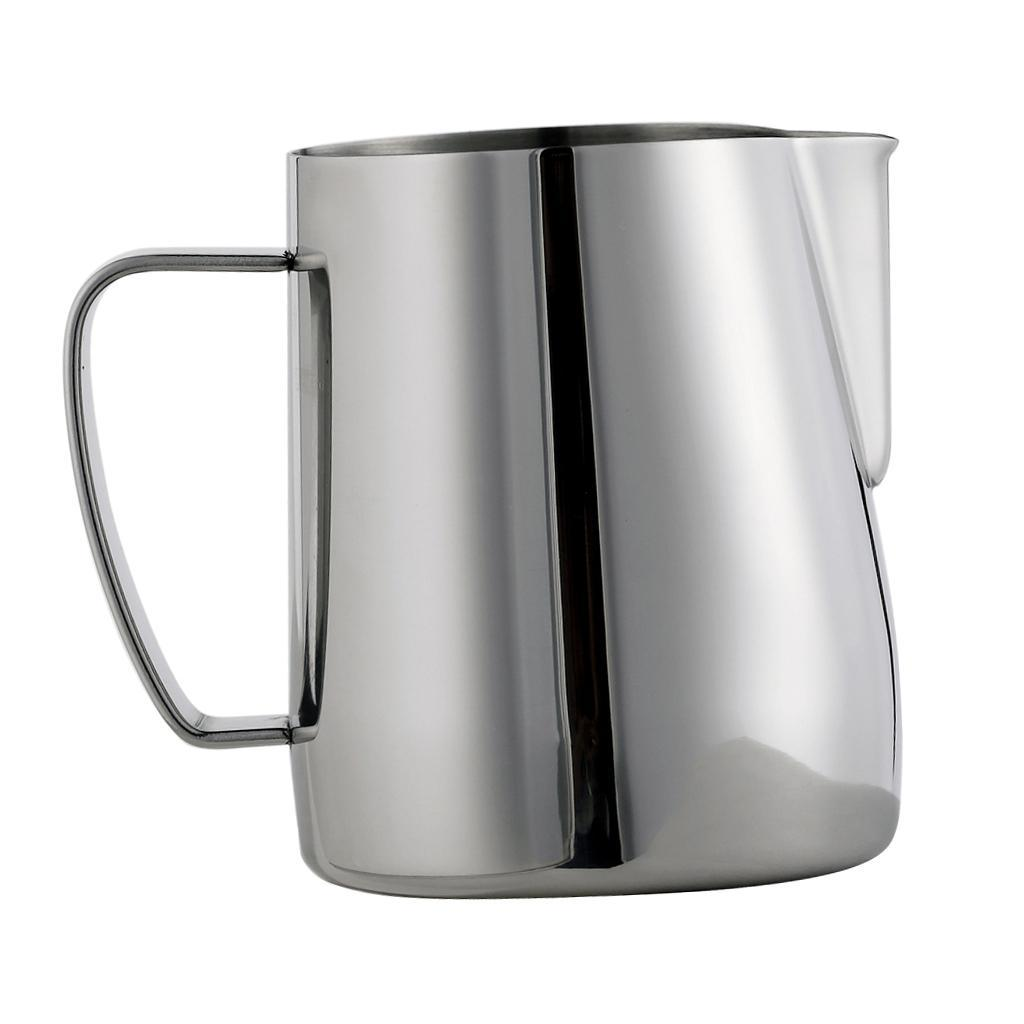 Milk-Pitcher-Stainless-Steel-Cup-Frothing-Pitcher-Jug-Coffee-Latte-600ml thumbnail 3
