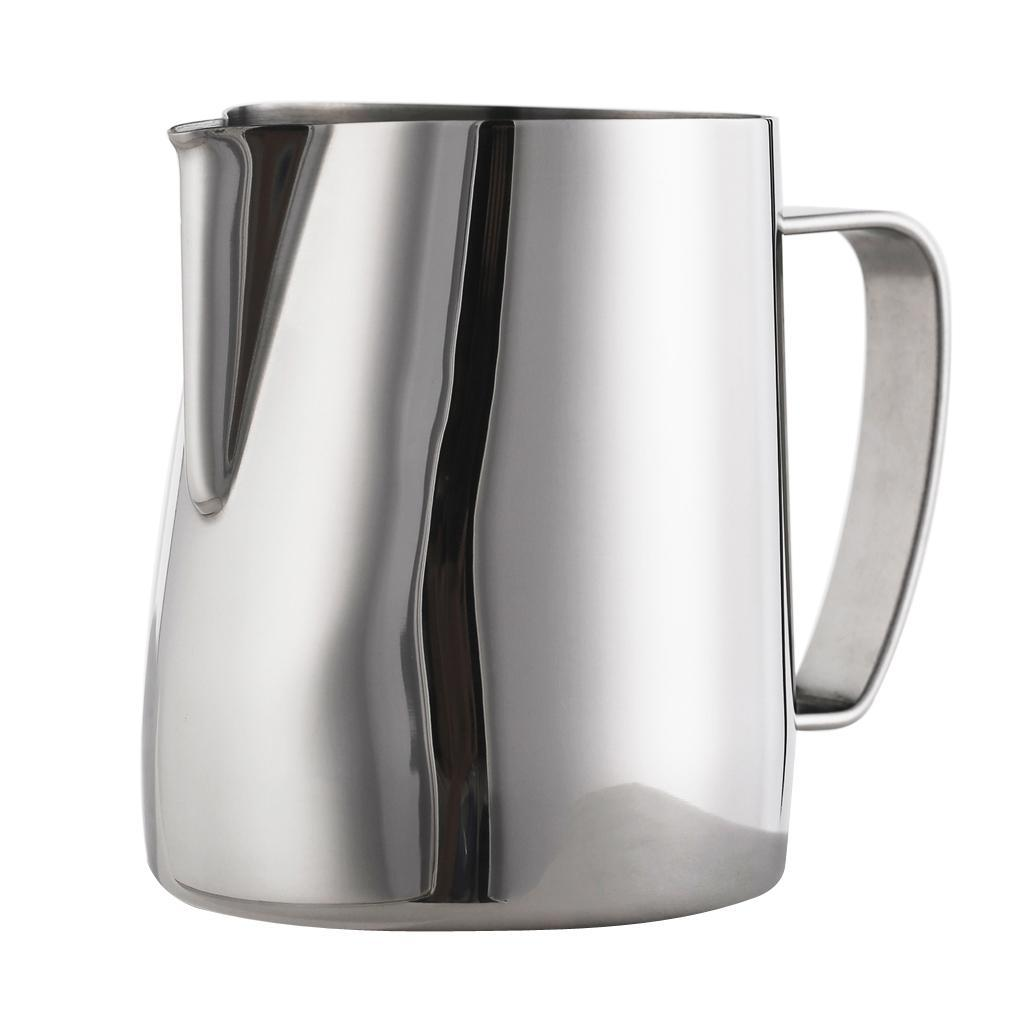 Milk-Pitcher-Stainless-Steel-Cup-Frothing-Pitcher-Jug-Coffee-Latte-600ml thumbnail 4