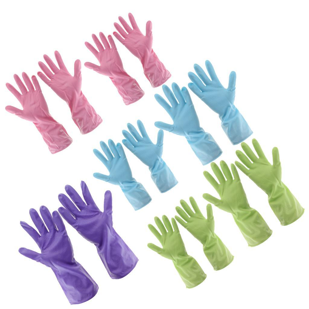 Gloves-Dish-Washing-Cleaning-Waterproof-Soft-Rubber-Scouring-Kitchen-Gloves thumbnail 3