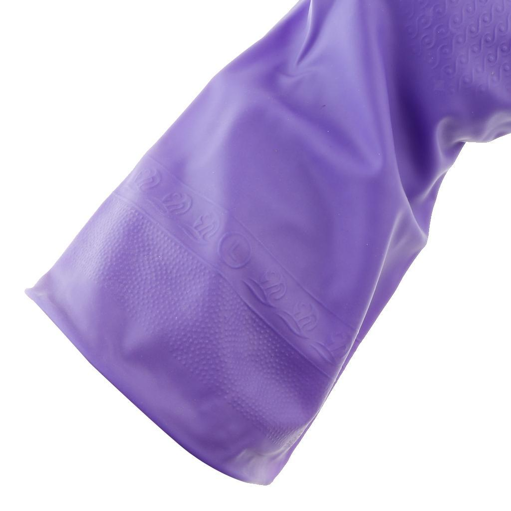 Gloves-Dish-Washing-Cleaning-Waterproof-Soft-Rubber-Scouring-Kitchen-Gloves thumbnail 4