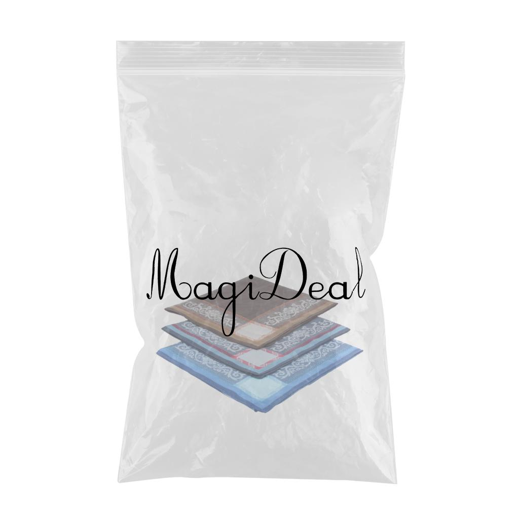 3Pack Men's Pocket Square Assorted Woven Handkerchief Cotton Plaid Hankie