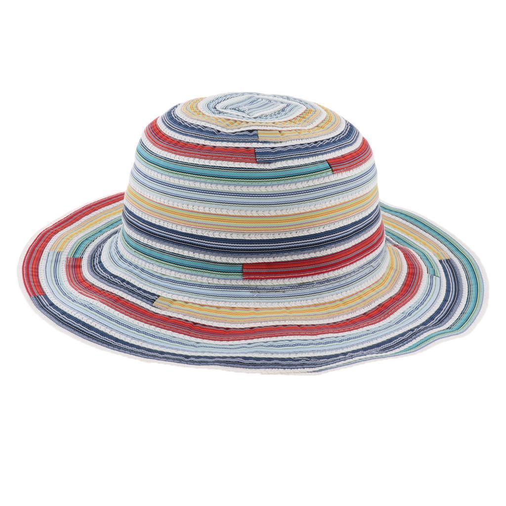 Cappello-da-pesca-a-tesa-larga-da-donna-Cappello-estivo-da-spiaggia-Cappello miniatura 14