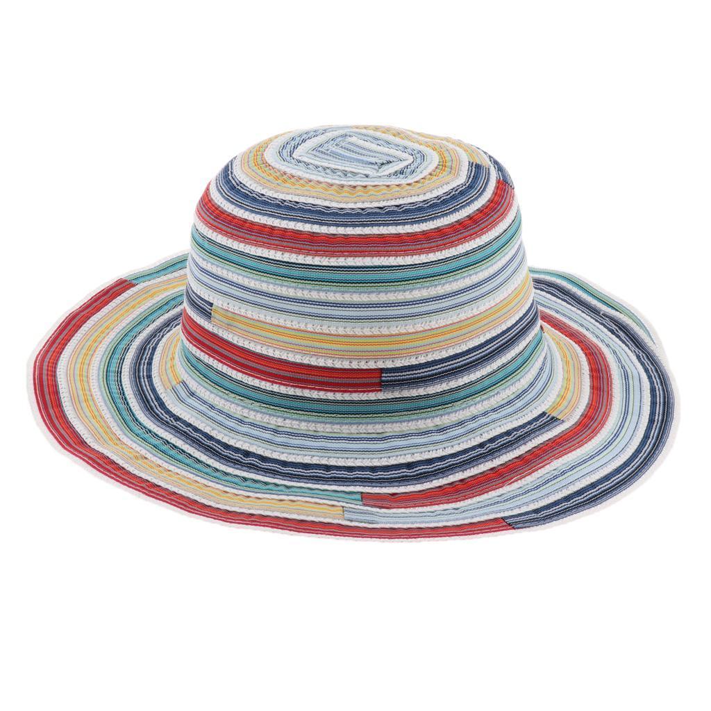 Cappello-da-pesca-a-tesa-larga-da-donna-Cappello-estivo-da-spiaggia-Cappello miniatura 12