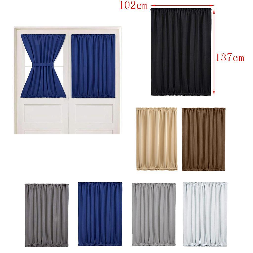 Sidelight Privacy Window Curtain Panel For French Door
