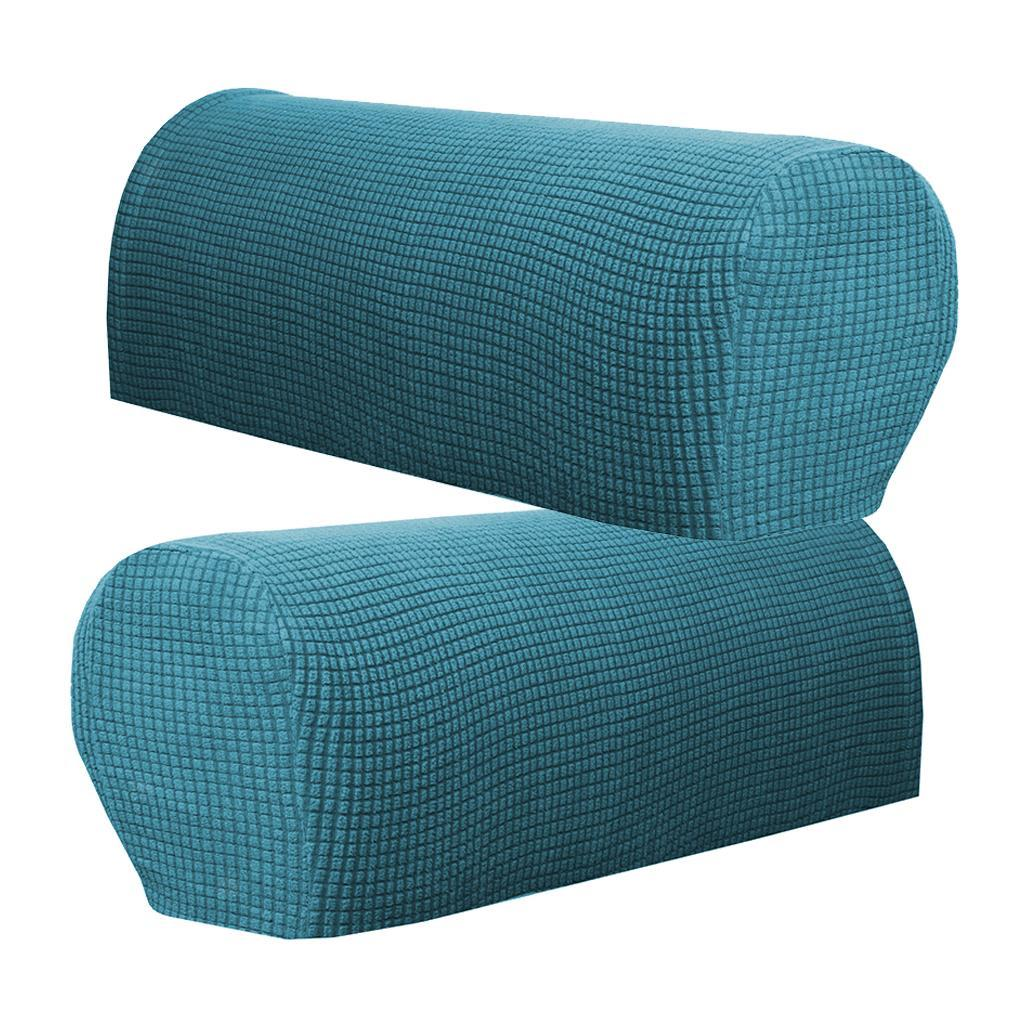 2 X Flannel Stretchy Furniture Armrest Covers Couch