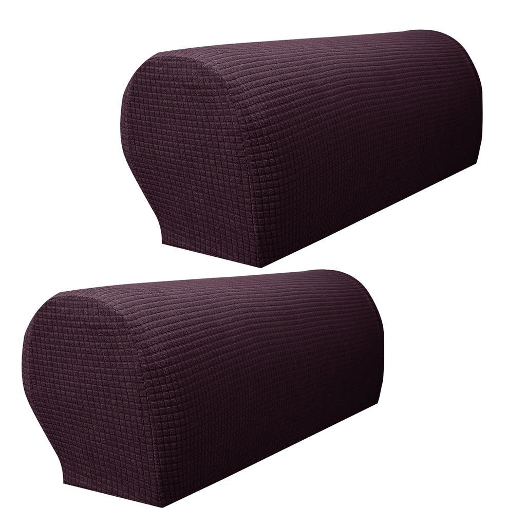 2 x Waterproof Spandex Stretch Armrest Covers Couch ...