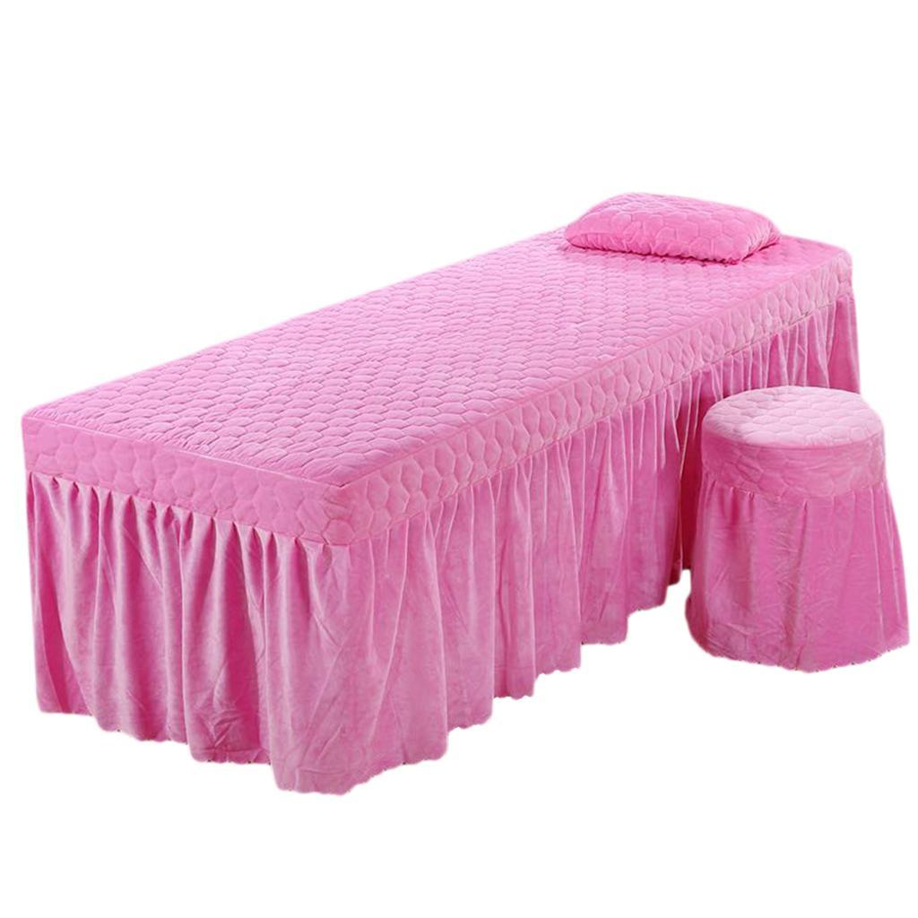 SPA-Massage-Bed-Bedding-Linen-Set-Table-Skirts-Pillow-Case-Stool-Cover thumbnail 6