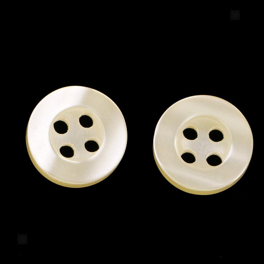 100pcs-4-Holes-Round-DIY-Resin-Buttons-Sewing-Scrapbooking-Clothes-Decor-11mm thumbnail 18