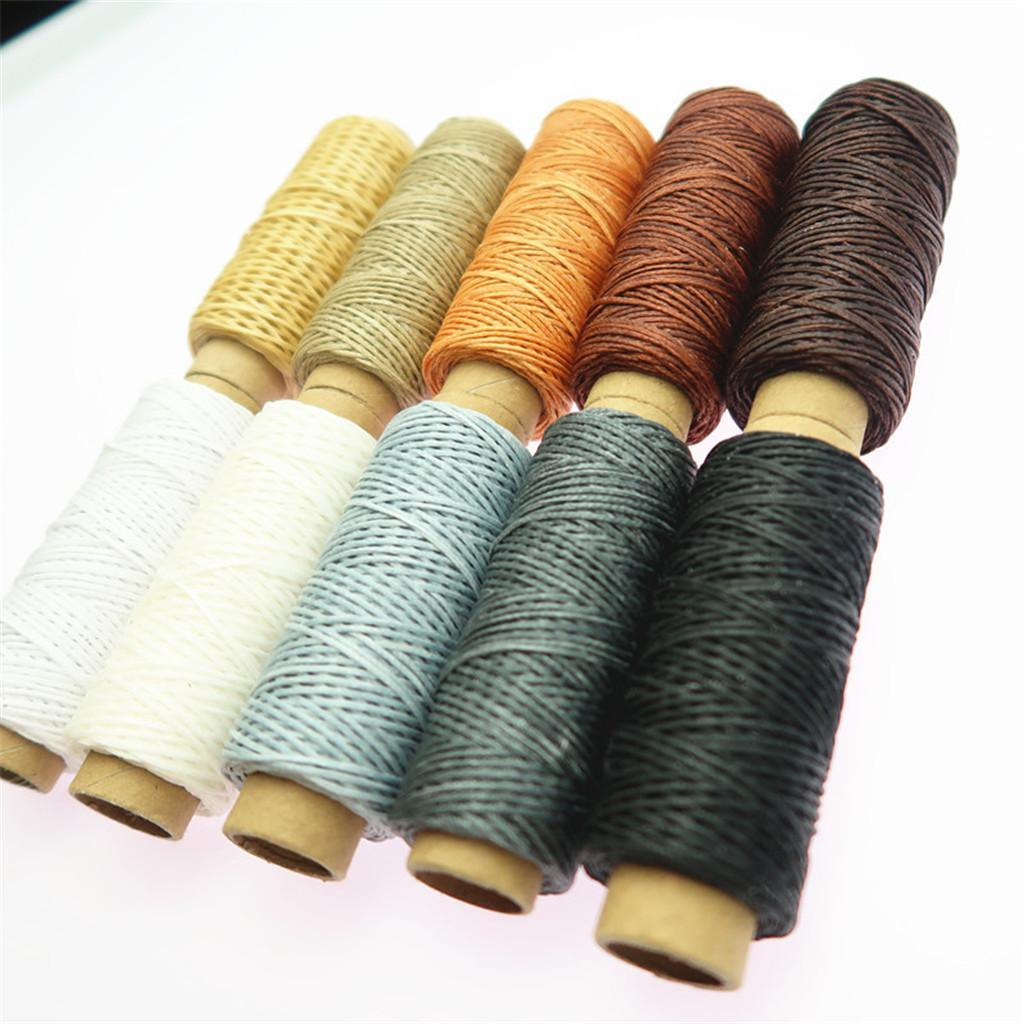10-Pieces-Leather-Accesseory-Cotton-Wax-Thread-for-Domestic-Sewing-Machine thumbnail 4