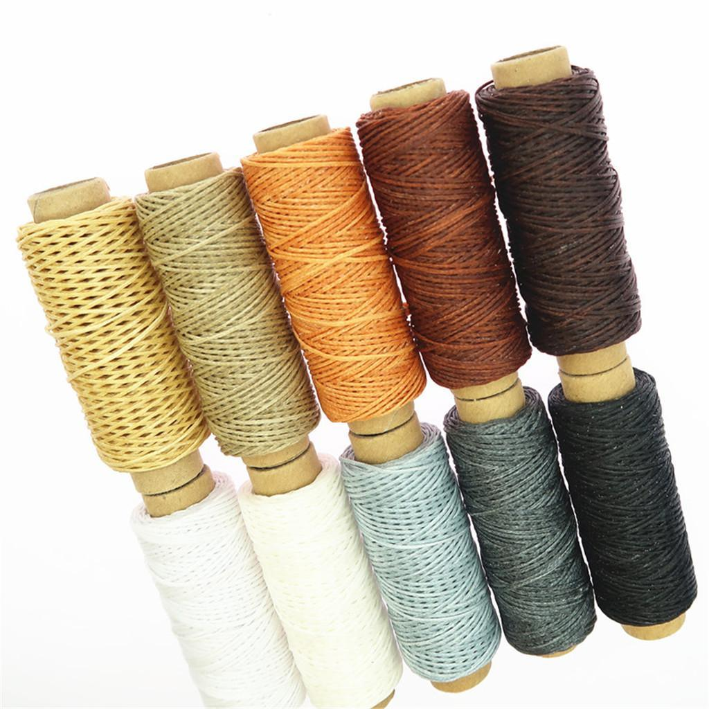 10-Pieces-Leather-Accesseory-Cotton-Wax-Thread-for-Domestic-Sewing-Machine thumbnail 5