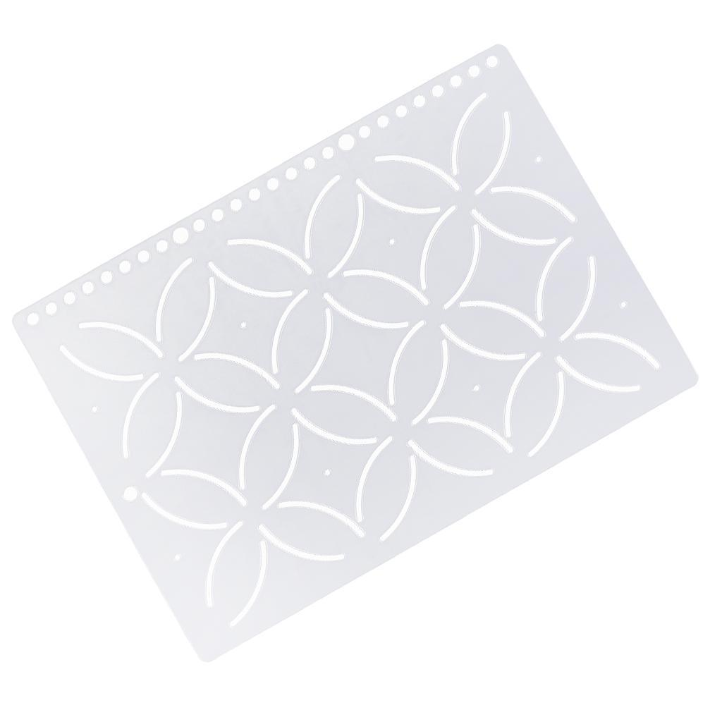 1pc-Plastic-Embroidery-Quilting-Templates-amp-Stencils-Sewing-Patchwork-Tools-DIY thumbnail 52