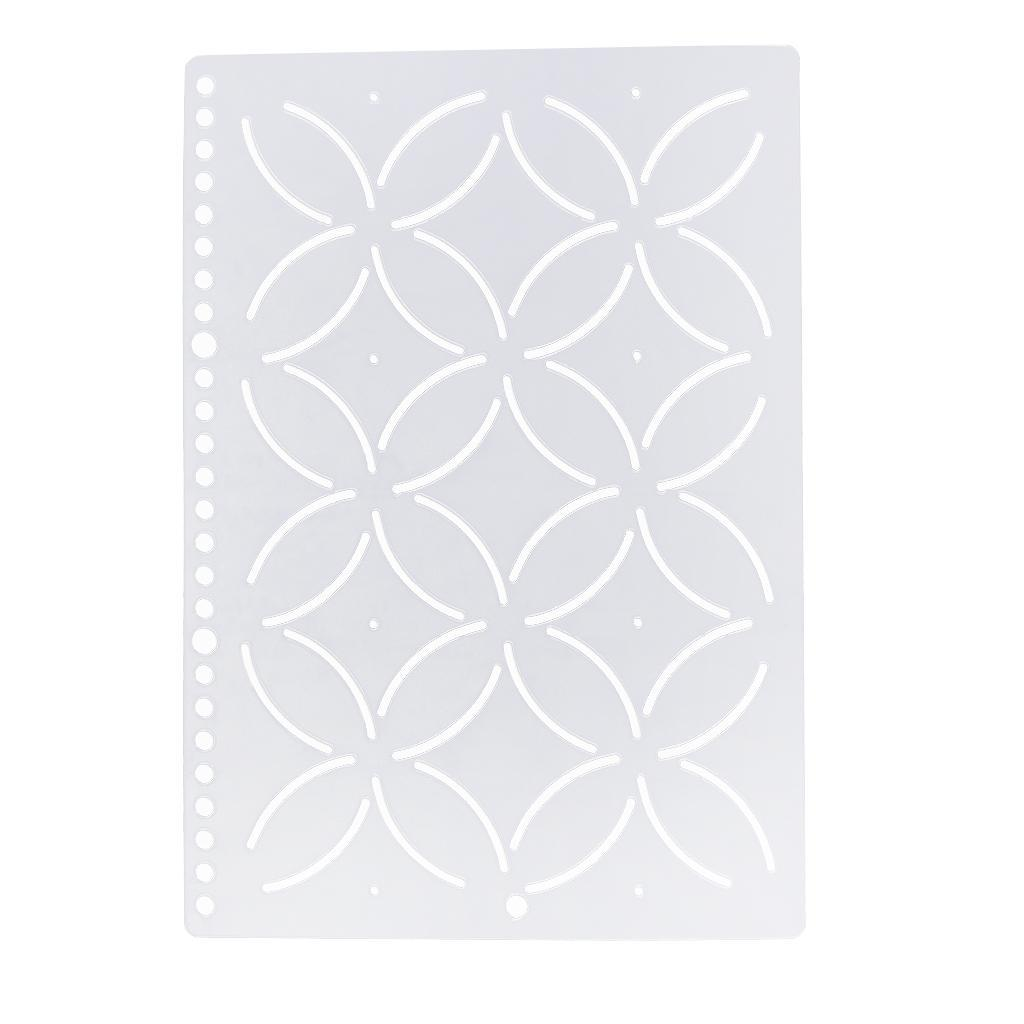 1pc-Plastic-Embroidery-Quilting-Templates-amp-Stencils-Sewing-Patchwork-Tools-DIY thumbnail 49