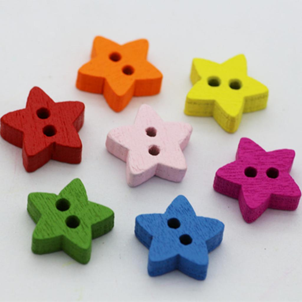100Pcs-Mixed-Color-2-Holes-Wooden-Buttons-Sewing-Craft-Scrapbooking-DIY-Handmade thumbnail 3