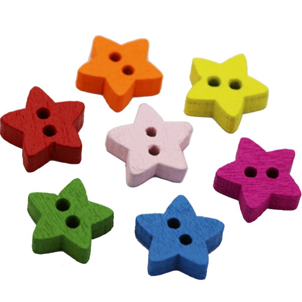 100Pcs-Mixed-Color-2-Holes-Wooden-Buttons-Sewing-Craft-Scrapbooking-DIY-Handmade thumbnail 4
