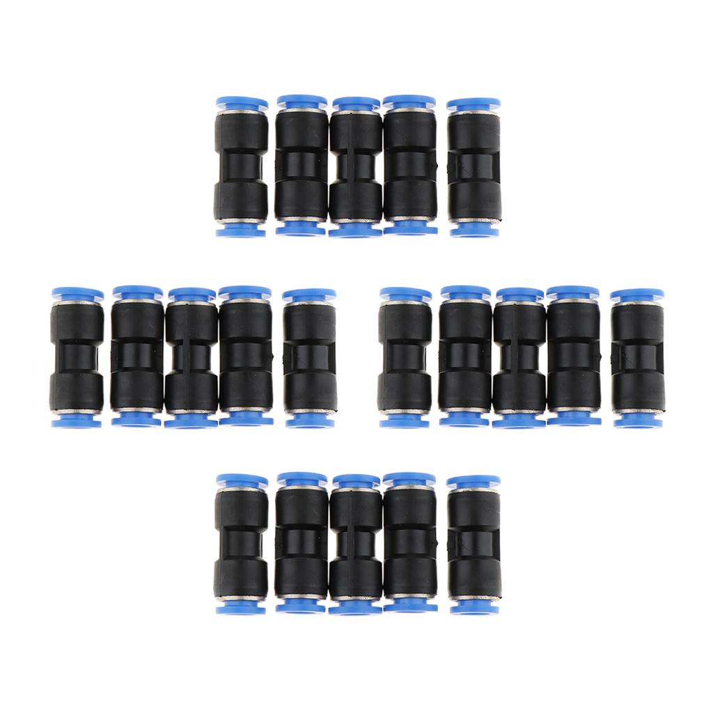 10pcs 8mm Pneumatic Straight Connector Push In Fitting Air//Water Hose Tube