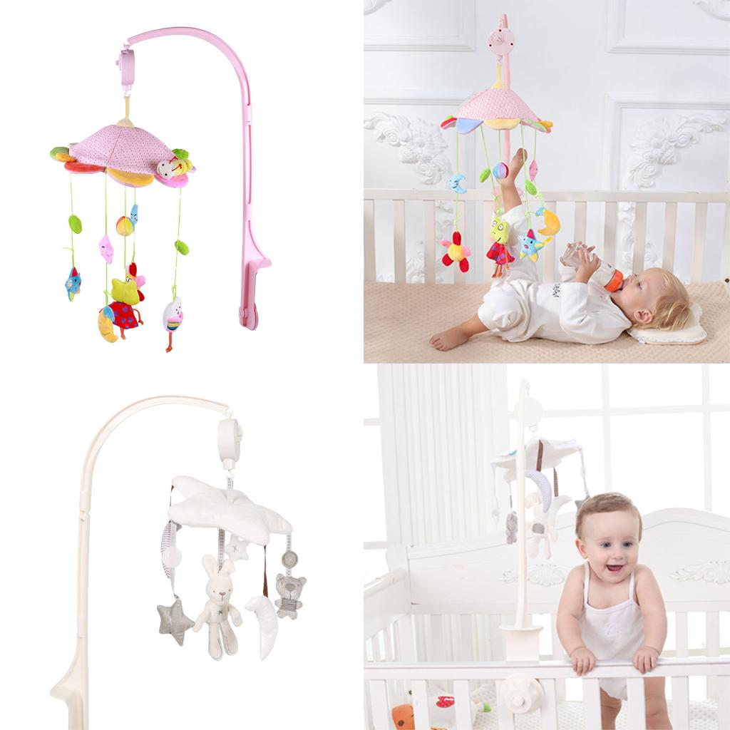 4Pcs Baby Crib Mobile Bed Bell Holder Kid Toy Bracket Wind-Up//Auto Music Box NEW