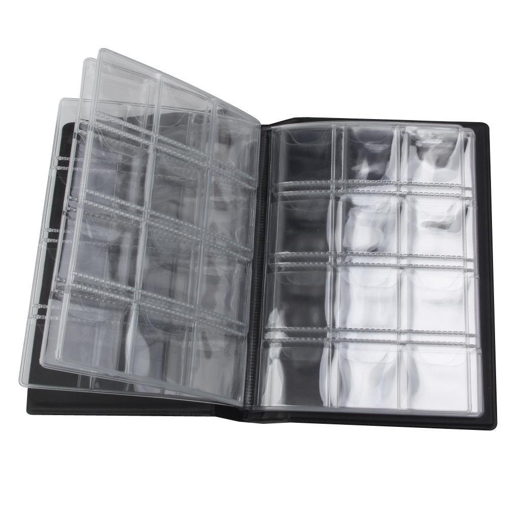 Raccoglitore-per-Monete-da-Collezione-Album-Portamonete-120-Tasche-10-Fogli miniatura 30