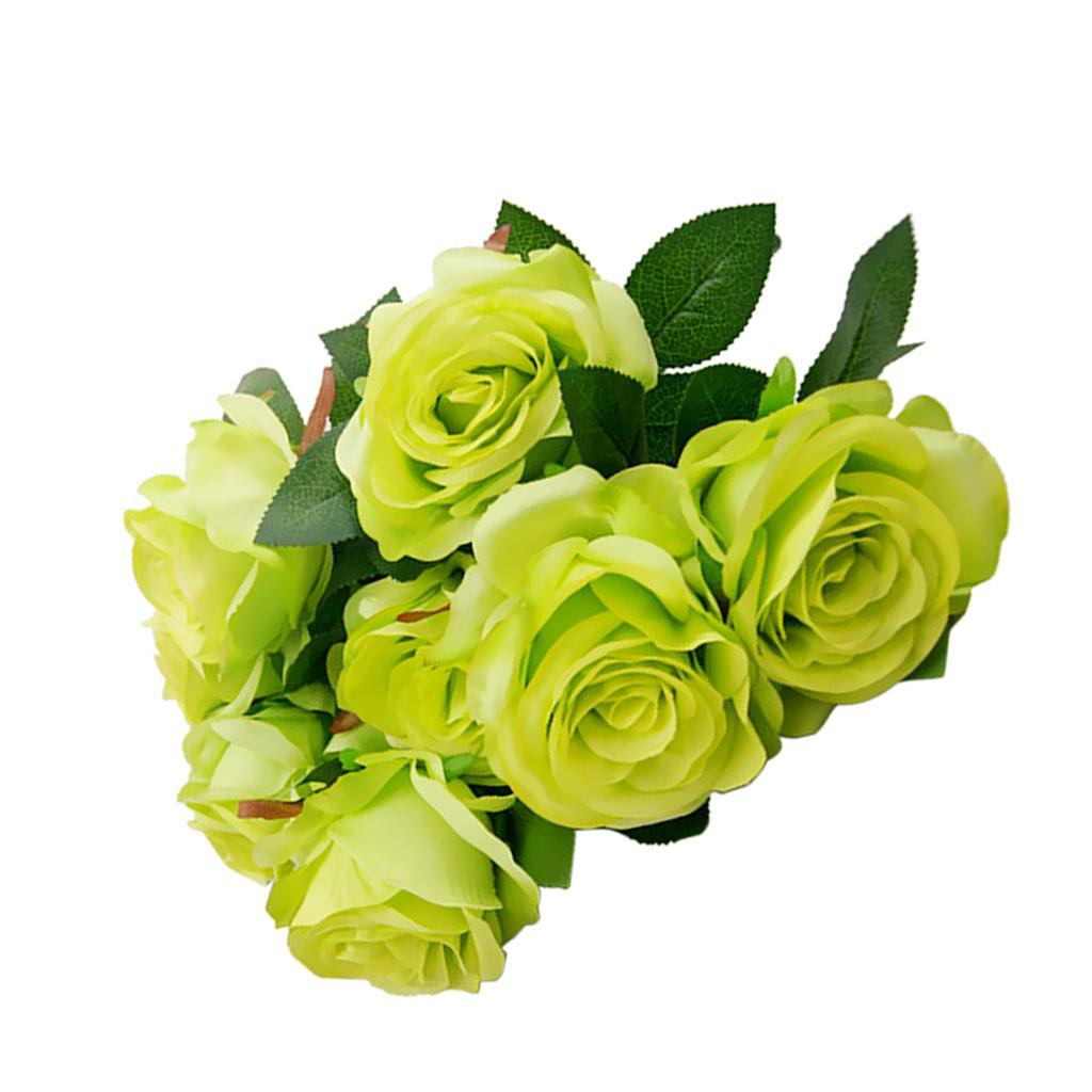 Large-9-HEADS-Artificial-Rose-Silk-Flowers-Fake-Floral-Valentines-Wedding-Decors thumbnail 24