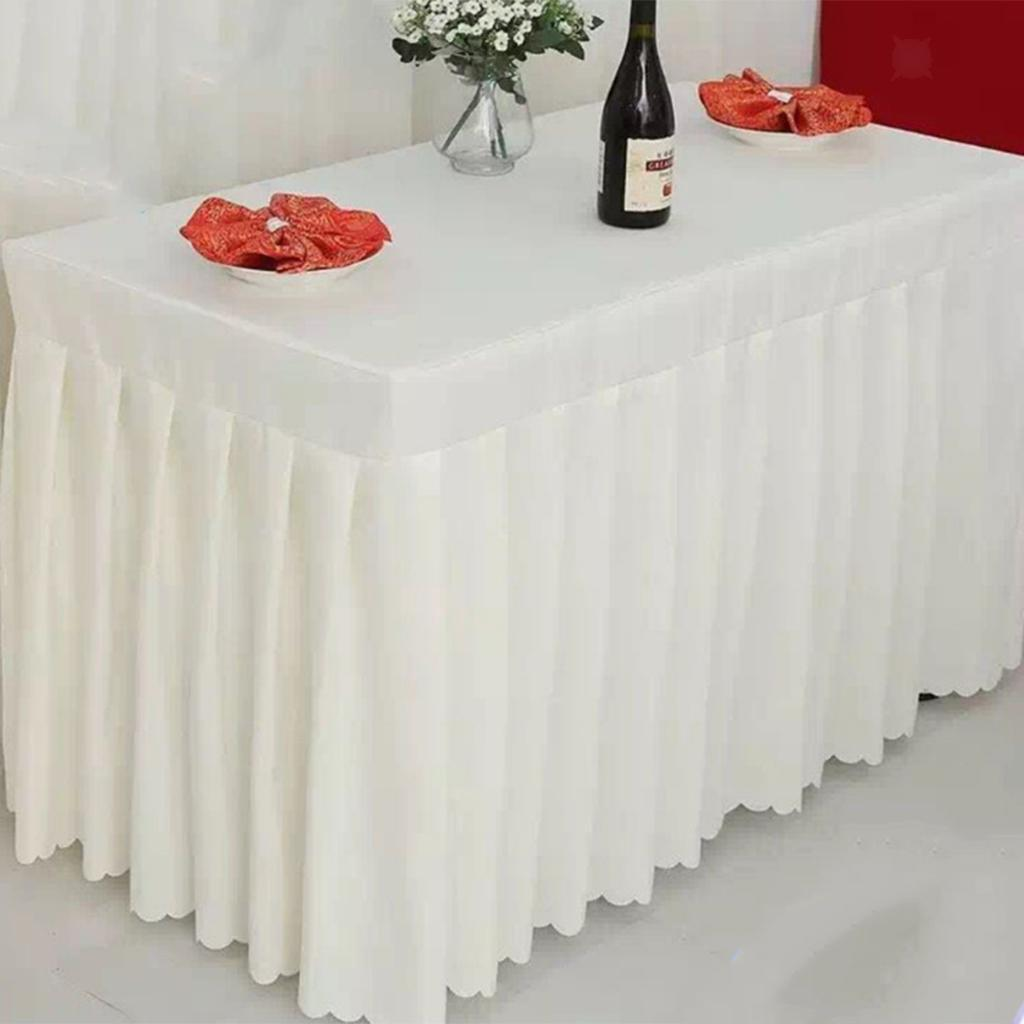 miniatura 5 - Gonne Per Tavolo Tovaglia Di Tavola Per Festa Natale Compleanno Matrimonio