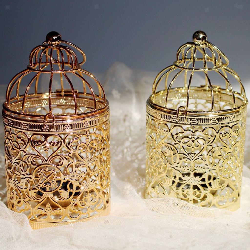Hollowed-Flower-Metal-Tealight-Candlestick-Birdcage-Candle-Holder thumbnail 17