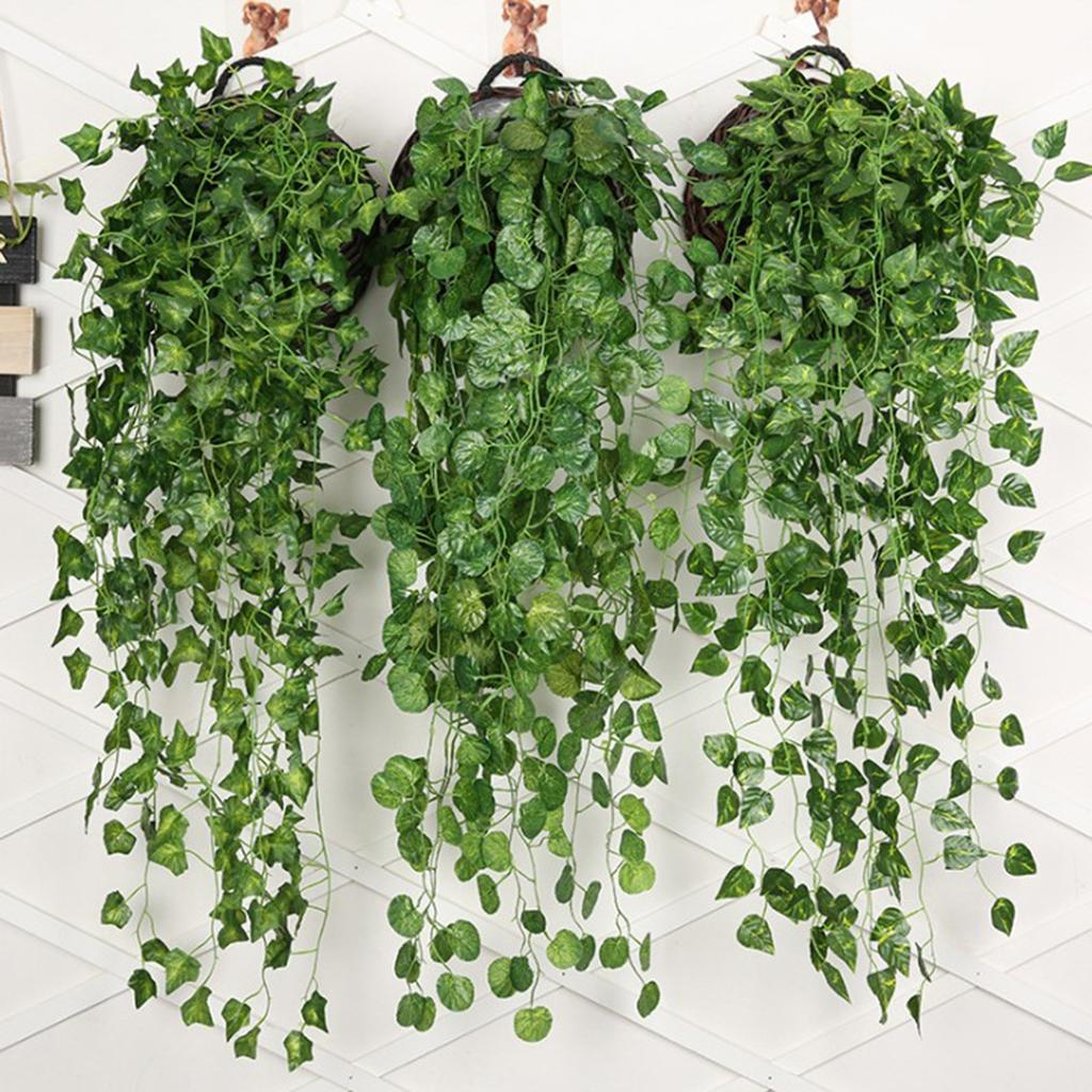 Details about Artificial Ivy Green Plant Indoor Garden Home Floral Decor  Wall Hanging Vine