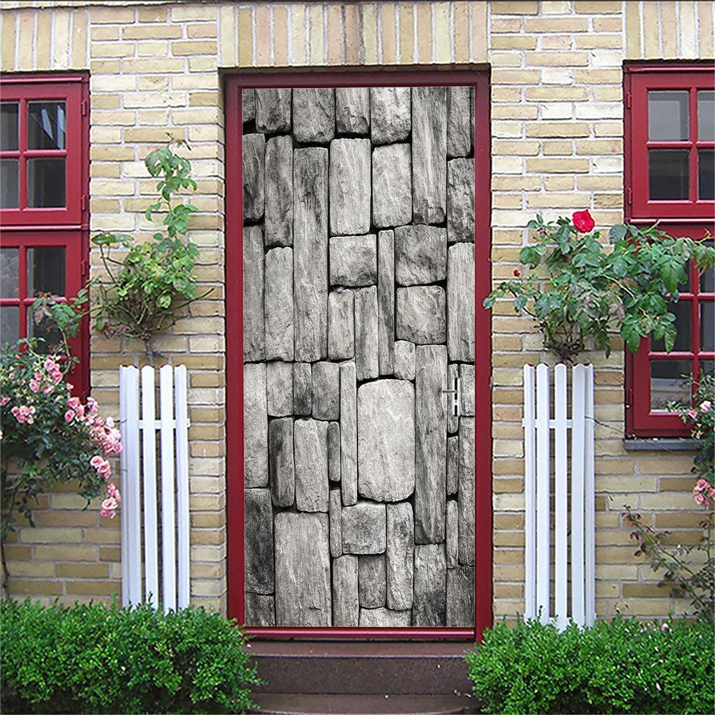 thumbnail 64 - 3D Self Adhesive Door Sticker DIY Decor Poster for Home Room Decor