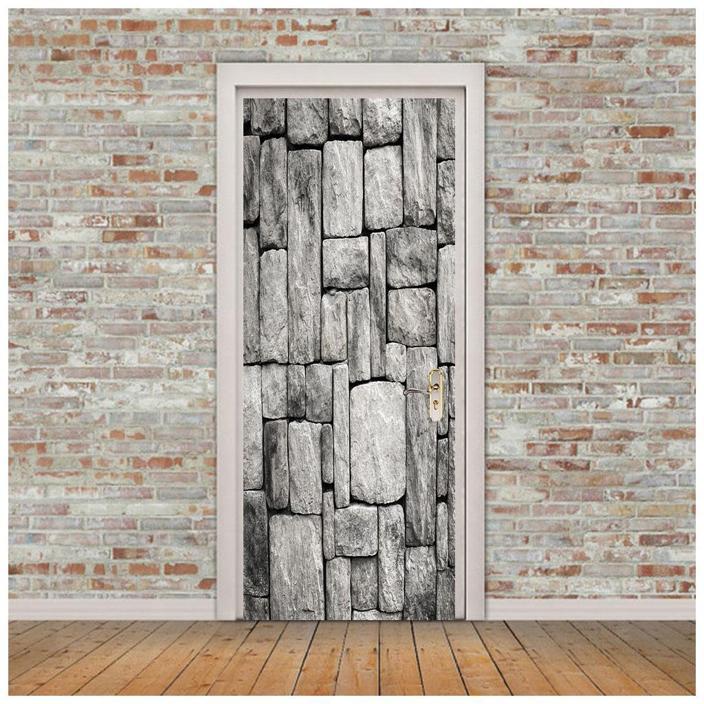 thumbnail 63 - 3D Self Adhesive Door Sticker DIY Decor Poster for Home Room Decor