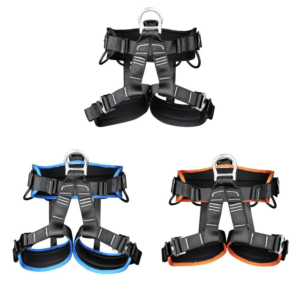 1 X Safety Rock Tree Climbing Harness Sit Belt Rappelling Rescue Caving Harness