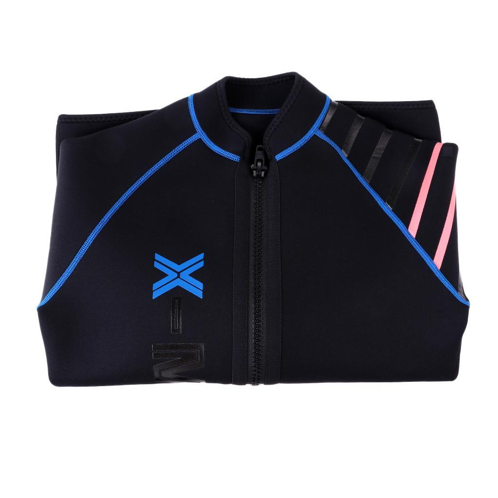 Mens-Wetsuit-Long-Sleeve-3mm-Neoprene-Wet-Suit-Surf-Scuba-Diving-Watersports thumbnail 7