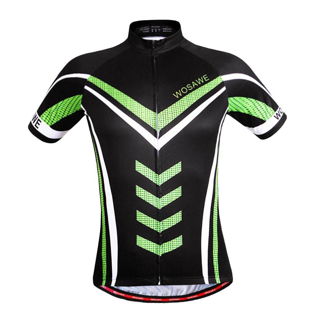 Homme-Maillots-De-Cyclisme-Velo-a-Manches-Courtes-Respirant-T-Shirt miniature 11
