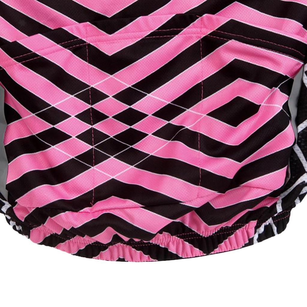 Velo-de-route-Velo-Femmes-Cyclisme-Manches-Courtes-Maillots-Haut-T-shirt miniature 19