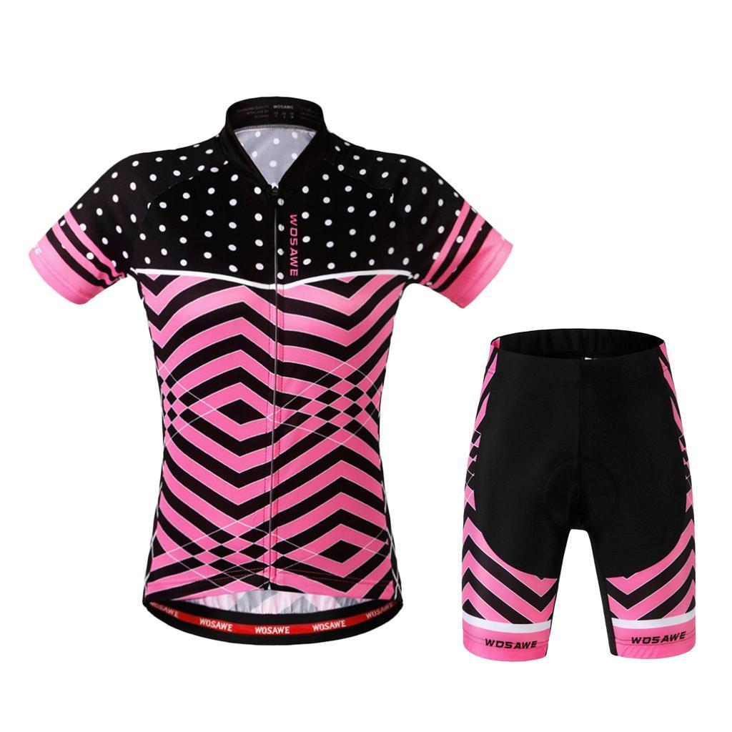 Velo-de-route-Velo-Femmes-Cyclisme-Manches-Courtes-Maillots-Haut-T-shirt miniature 18