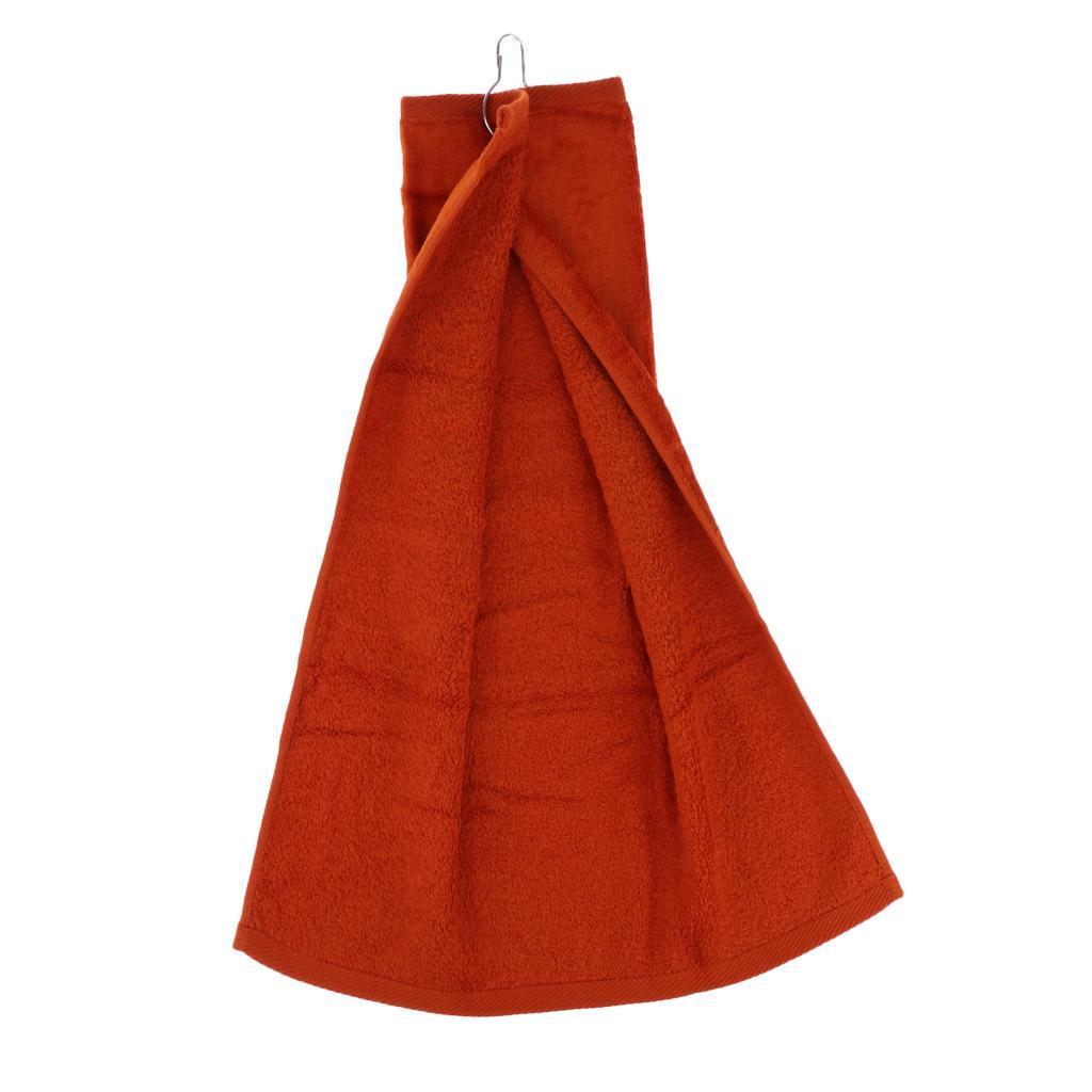 55x40cm-Cotton-Tri-Fold-Hiking-Cotton-Golf-Sport-Bag-Towel-W-Carabiner-Clip thumbnail 6