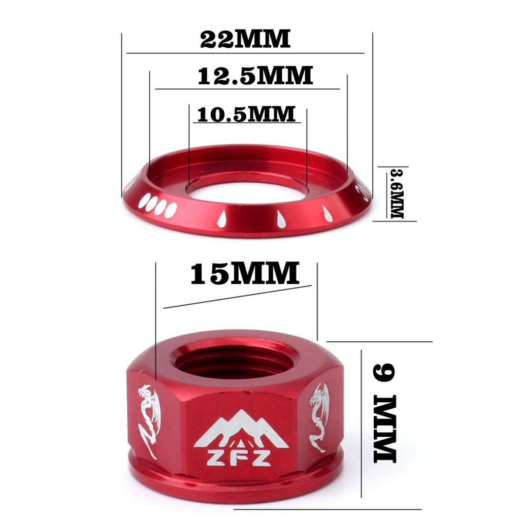 4-pezzi-di-viti-per-asse-ruota-Kit-mozzo-ruota-Fissaggio-sostitutivo-MTB miniatura 6