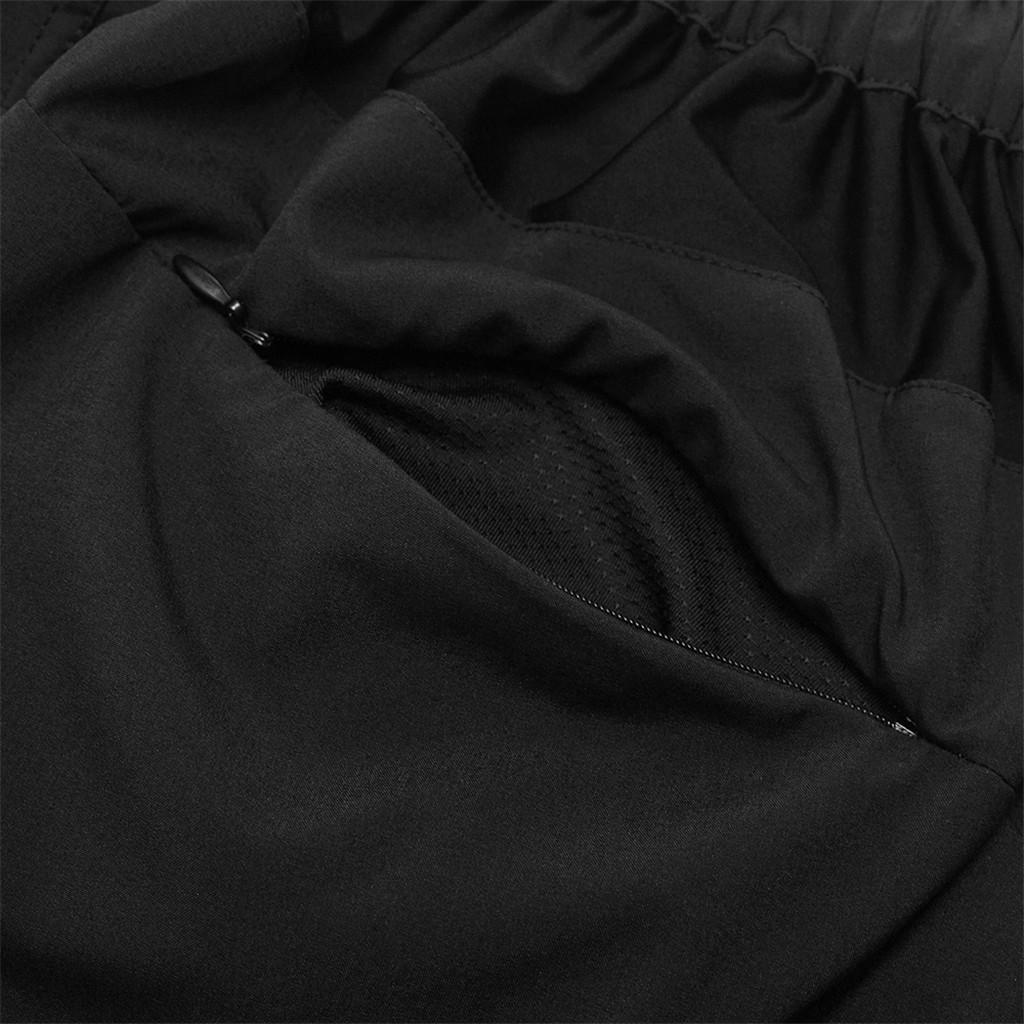 Rembourre-Baggy-Cycling-shorts-casual-velo-pantalon-court-sous-vetements-Noir miniature 6