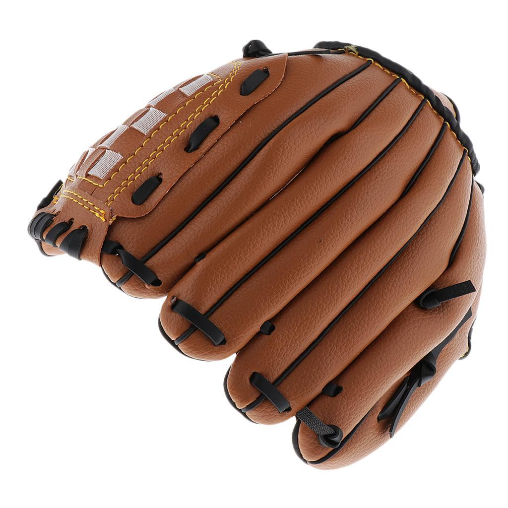 Baseball-Softball-Gloves-Wear-resistant-Mitts-Right-Hand-Thrower-Youth-Adult thumbnail 7